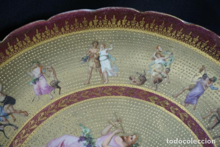 Antigüedades: PLATO PORCELANA. VIENA. AUSTRIA. SIGLO XIX-XX. - Foto 15 - 125072335