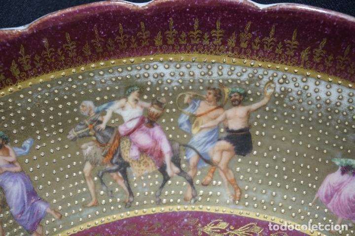 Antigüedades: PLATO PORCELANA. VIENA. AUSTRIA. SIGLO XIX-XX. - Foto 18 - 125072335
