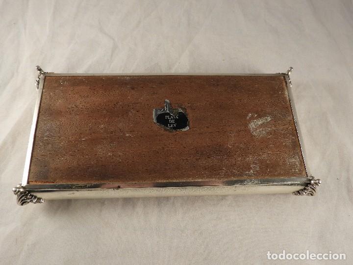 Antigüedades: CAJA DE PLATA MACIZA CON EL PUNZON DE LA ESTRELLA - Foto 7 - 125073947