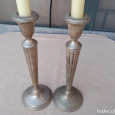 Antigüedades: 2 CANDELABROS DE PLATA.(EMPIRE SILVER STERLING WEIGHTED MADE IN USA) 25CM. Lote 125077247