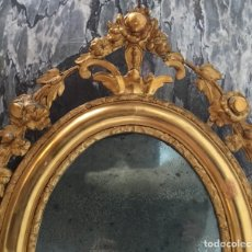 Antigüedades: ESPEJO / CORNUCOPIA DORADA, FINALES S. XIX. Lote 125078020