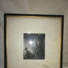 Antigüedades: MARCO ANTIGUO DE GRABADO DEL AÑO 1911. . Lote 125111163