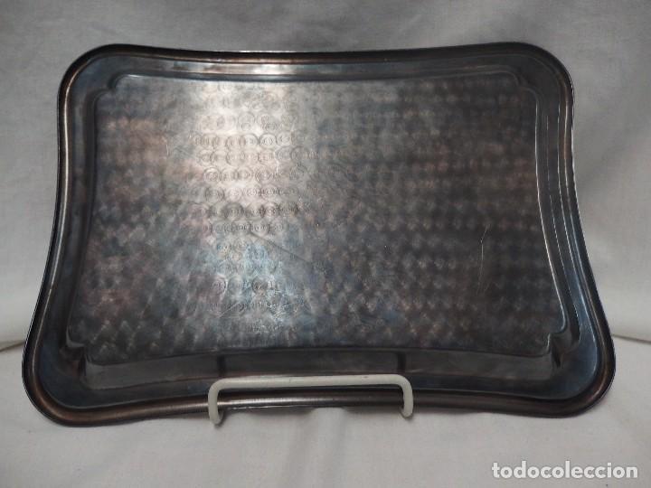 Antigüedades: BANDEJA DE ALPACA - Foto 3 - 125156519