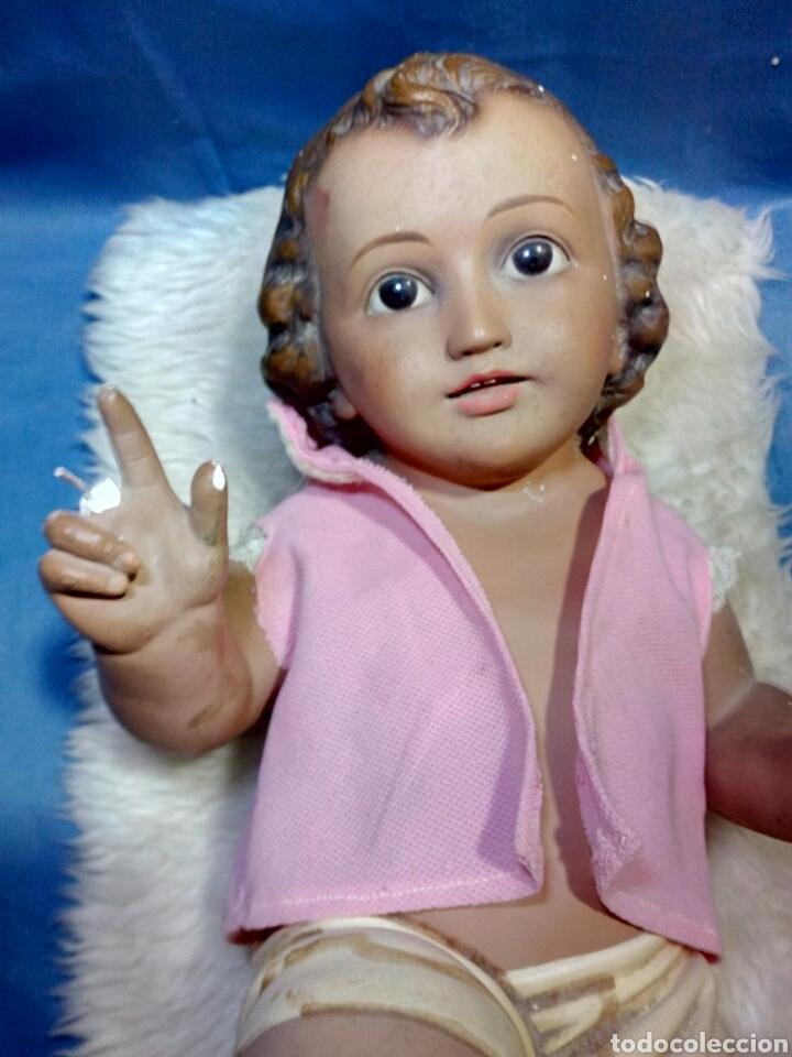 Antigüedades: Precioso niño jesus antiguo a restaurar - Foto 2 - 125165342