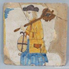 Antigüedades: AZULEJO CATALAN. SERIE OFICIOS. SIGLO XVII-XVIII. Lote 125169611