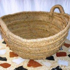Antigüedades: ANTIGUO CAPAZO DE ESPARTO.. Lote 125170119