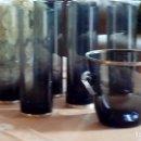 Antigüedades: JUEGO DE CUBITERA CRISTAL Y PLATA CON 6 VASOS TUBO CON BASE DE PLATA. Lote 73475555