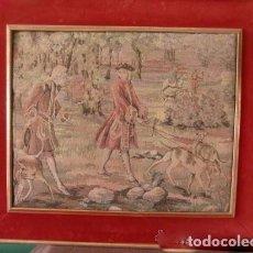 Antigüedades: ANTIGUO TAPIZ ENMARCADO. Lote 125194095