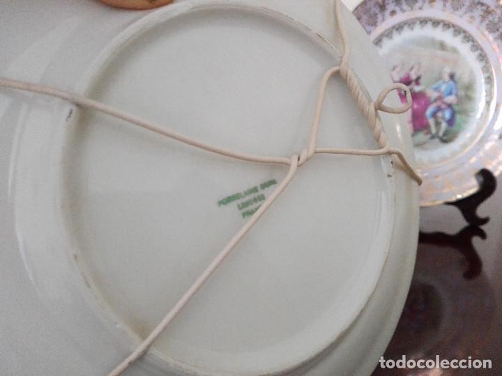 Antigüedades: LOTE DE 2 ANTIGUOS PLATOS DE PORCELANA LIMOGES - Foto 2 - 125194831