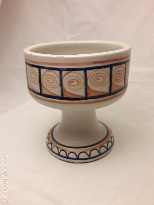 PRECIOSA PALMATORIA CERÁMICA TALAVERA FIRMADA EN LA BASE. (Antigüedades - Porcelanas y Cerámicas - Talavera)