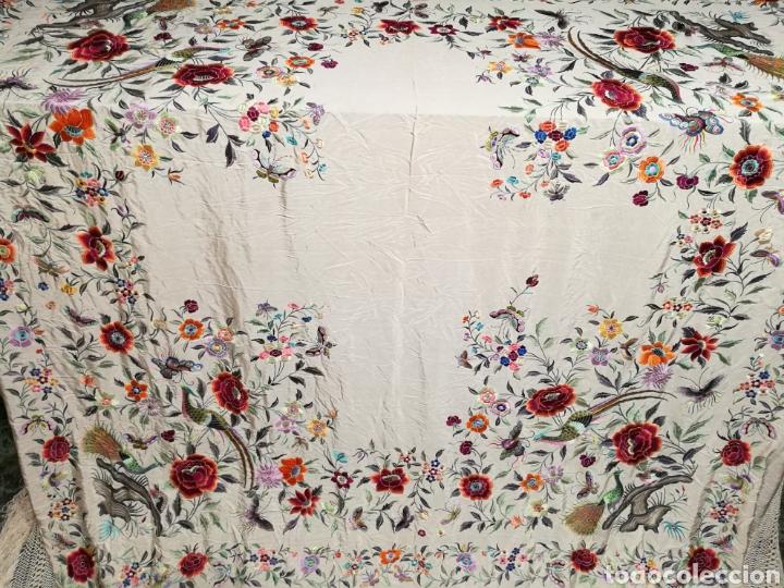 Antigüedades: Maravilloso mantón imperio - Foto 2 - 125224326