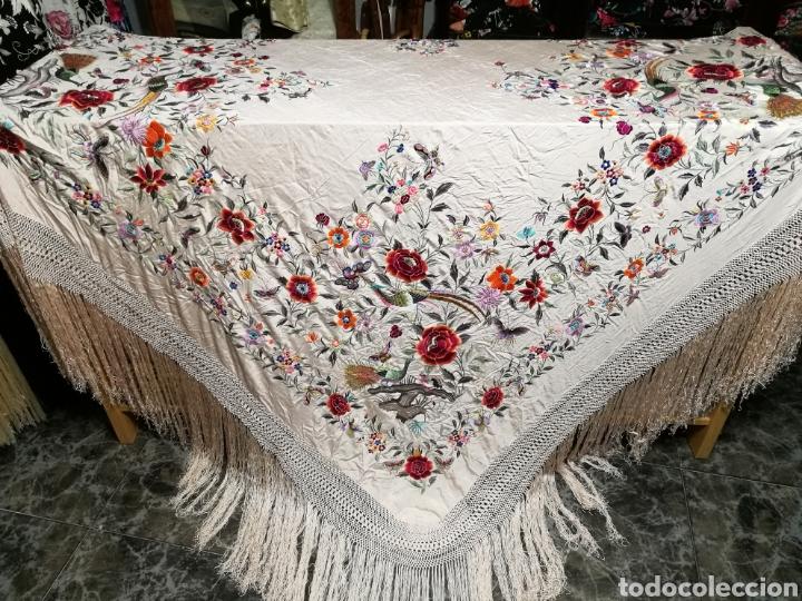 Antigüedades: Maravilloso mantón imperio - Foto 5 - 125224326