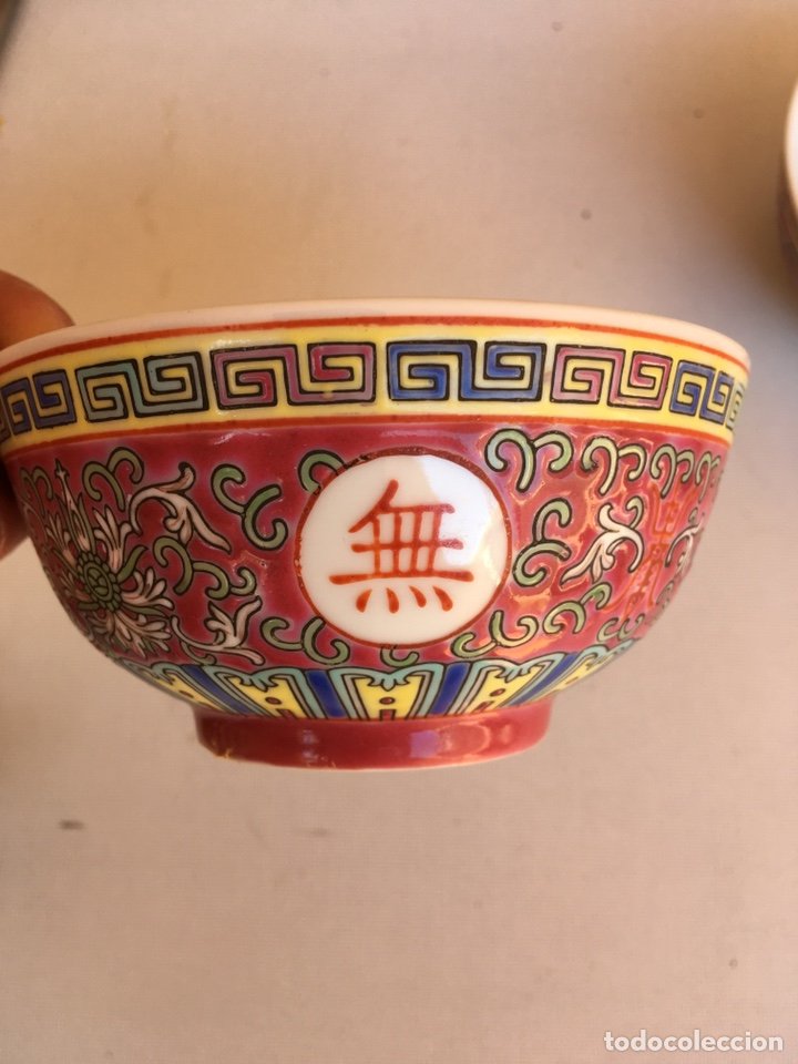 DOS CUENCOS DE PORCELANA CHINA DE PRICIPIOS DE SIGLO XX (Antigüedades - Porcelanas y Cerámicas - China)