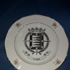 Antigüedades: BONITO PLATO PINTADO EN PLATA VALLADOLID. Lote 125235296
