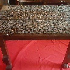 Antiquitäten: PRECIOSA MESA DE COMEDOR REALIZADA CON UN TRILLO. . Lote 125235919