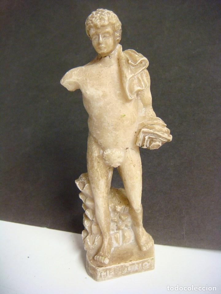 FIGURA DE DIOSES GRIEGOS ( MERCURIO ) (#) (Antigüedades - Hogar y Decoración - Figuras Antiguas)