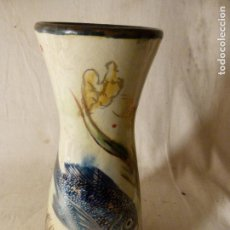 Antigüedades: JARRON DE CERÁMICA VIDRIADA DEL ARTISTA EUSEBIO DIAZ COSTA. Lote 125251863