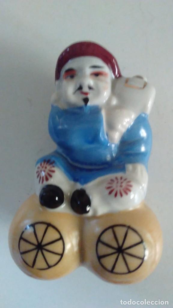 Antigüedades: Conjunto de tres figuras de porcelana china - Foto 4 - 125279999