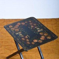 Antiquitäten - Mesa abatible lacada y pintada motivos florales - 125281247