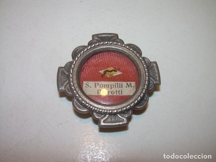 Antiquitäten: ANTIGUO RELICARIO CON SU CORRESPONDIENTE LACRA PRECINTADA. - Foto 2 - 125291091