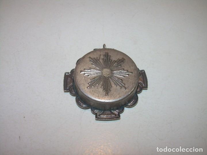 Antiquitäten: ANTIGUO RELICARIO CON SU CORRESPONDIENTE LACRA PRECINTADA. - Foto 3 - 125291091