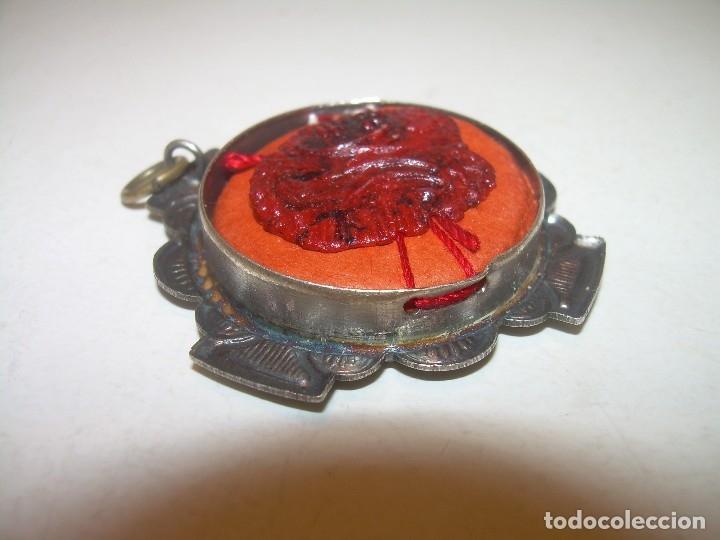 Antiquitäten: ANTIGUO RELICARIO CON SU CORRESPONDIENTE LACRA PRECINTADA. - Foto 8 - 125291091