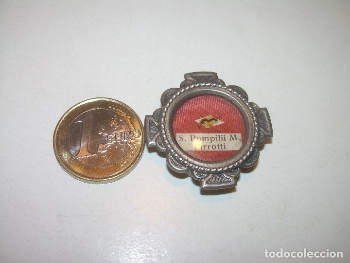 Antiquitäten: ANTIGUO RELICARIO CON SU CORRESPONDIENTE LACRA PRECINTADA. - Foto 9 - 125291091