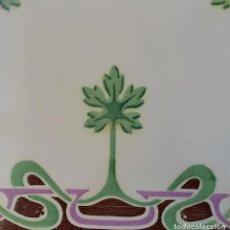 Antigüedades: AZULEJO MODERNISTA - ART NOUVEAU. Lote 125300311