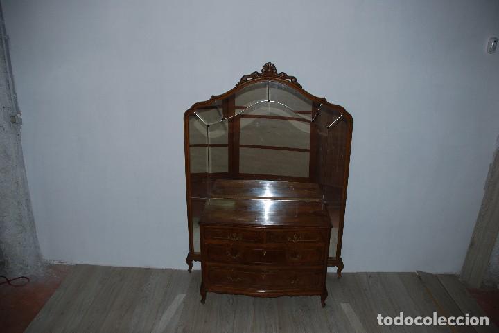 Antigüedades: CÓMODA ROBLE CON MURAL DE ESPEJO - Foto 2 - 125316251
