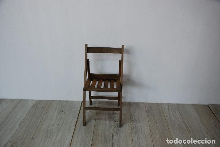 SILLA PLEGABLE ANTIGUA (Antigüedades - Muebles Antiguos - Sillas Antiguas)