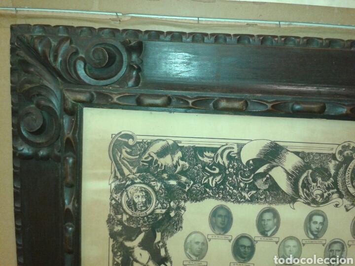 Antigüedades: ANTIGUO MARCO MADERA TALLADA - Foto 3 - 125324306