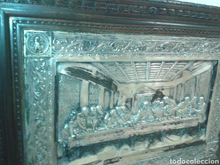 Antigüedades: ANTIGUO MARCO DE MADERA CON LA SANTA CENA - Foto 3 - 125325680