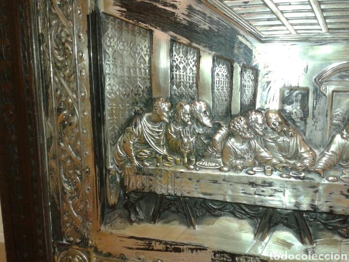 Antigüedades: ANTIGUO MARCO DE MADERA CON LA SANTA CENA - Foto 4 - 125325680
