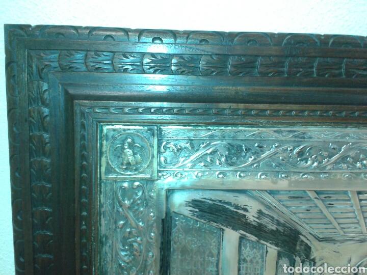 Antigüedades: ANTIGUO MARCO DE MADERA CON LA SANTA CENA - Foto 5 - 125325680
