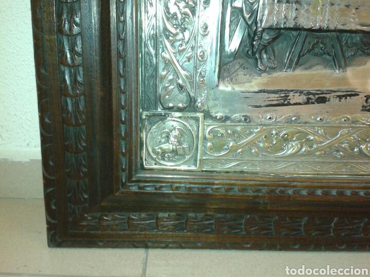 Antigüedades: ANTIGUO MARCO DE MADERA CON LA SANTA CENA - Foto 6 - 125325680