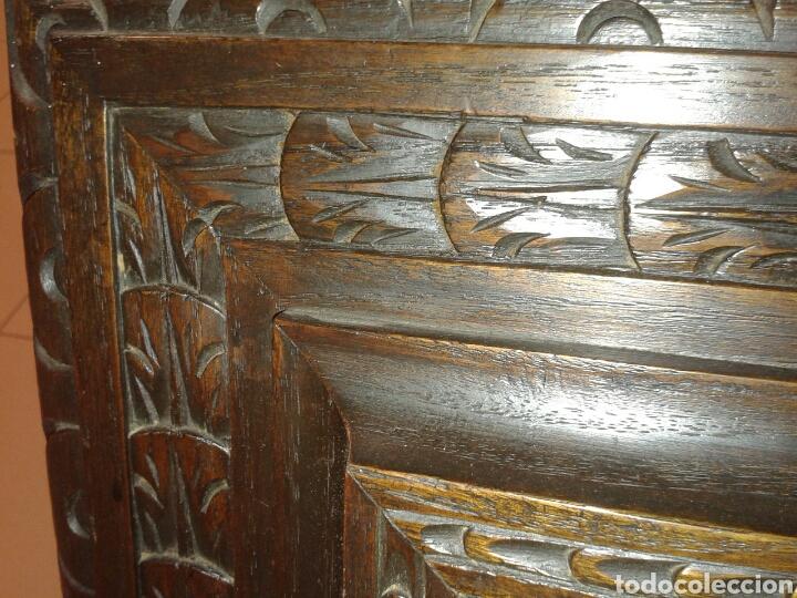 Antigüedades: ANTIGUO MARCO DE MADERA CON LA SANTA CENA - Foto 7 - 125325680