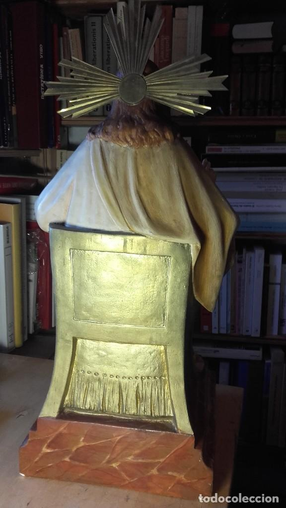 Antigüedades: SAGRADO CORAZON ENTRONIZADO. ANTIGUO. SIN SELLO DE PROCEDENCIA. 50 CENTIMETROS. 3150 GRAMOS. - Foto 10 - 125333835