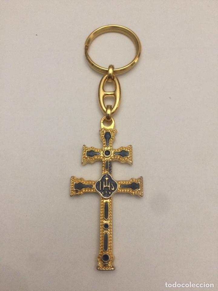 (MD17) LLAVERO CRUZ NUEVA (Antigüedades - Religiosas - Crucifijos Antiguos)