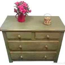Antiques - cómoda maciza, verde oliva annie sloan, preciosa. - 122922287
