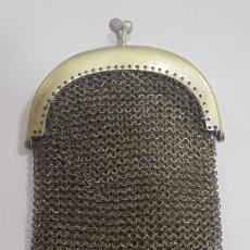 Antigüedades: ANTIGUO MONEDERO BOLSO DE PLATA. 10 X 7CM. 60 GRAMOS. DOBLE COMPARTIMENTO. VER FOTOS. Lote 125375047
