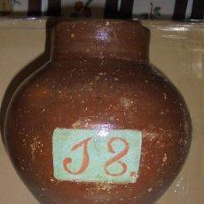 Antigüedades: (M) ANTIGUO ALBARELO O ORZA DE FARMACIA O HERBOLARIO , CON EL Nº 18 - 30X20 CM. BUEN ESTADO. Lote 125379591
