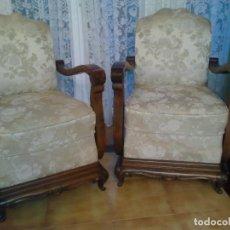 Antigüedades: PAREJA DE SILLONES. Lote 125382671