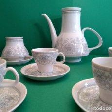 Antigüedades: JUEGO CAFE SANTA CLARA. CAFETERA + AZUCARERO + 9 SERVICIOS. VINTAGE. Lote 125391519