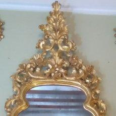 Antigüedades - Espejo isabelino 2 metros talla madera dorado oro fino siglo XIX - 125131842