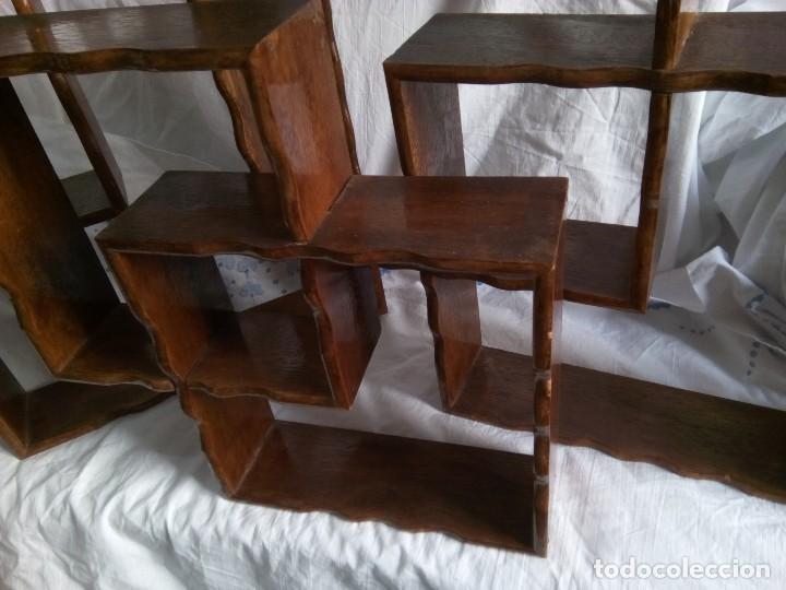conjunto de tres pequeñas estanterías en madera - Comprar Repisas ...
