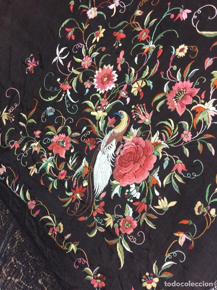 Antigüedades: Antiguo mantón de manila isabelino - Foto 2 - 126976987