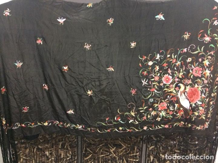 Antigüedades: Antiguo mantón de manila isabelino - Foto 3 - 126976987