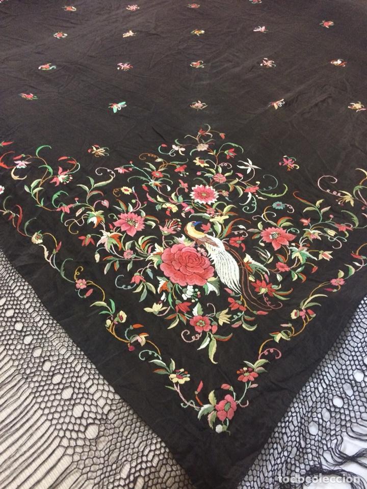 Antigüedades: Antiguo mantón de manila isabelino - Foto 5 - 126976987