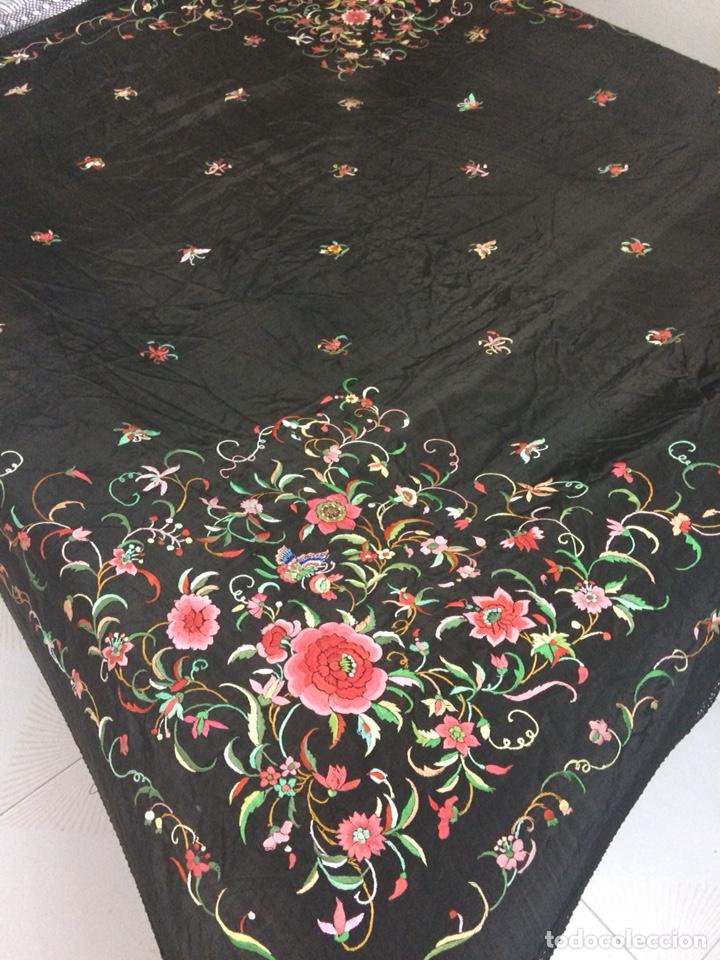 Antigüedades: Antiguo mantón de manila isabelino - Foto 6 - 126976987