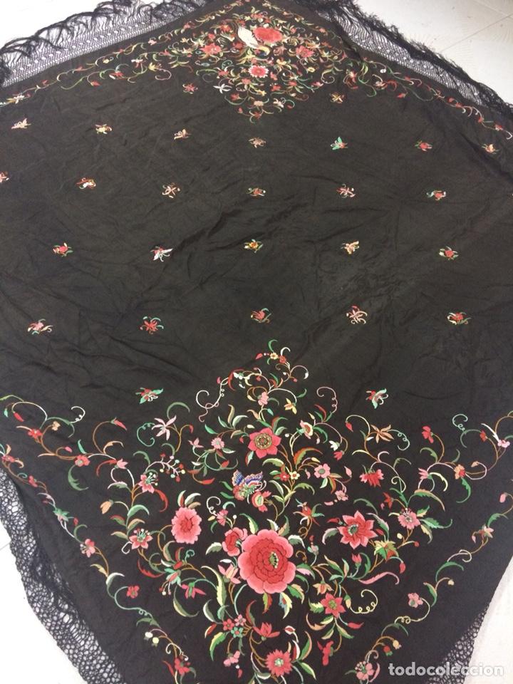 Antigüedades: Antiguo mantón de manila isabelino - Foto 7 - 126976987